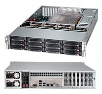 "Supermicro SuperChassis 2U 826BE16-R920LPB/ noHDD(12)LFF/ noHDD(2)SFF(opt+MCP-220-82609-0N)/ 7xLP/ 2x920W Platinum(13.68""x13"",12""x13"" with rear 2.5"" H"