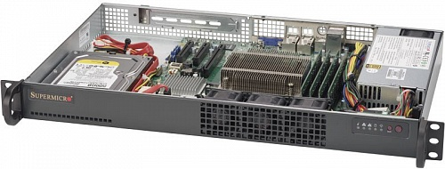Платформа SuperMicro  SYS-5019S-L, 1U Rack,  Socket-1151,  БП: 200