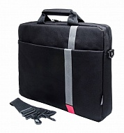 "Сумка PC PET PCP-1001RD 15.6"" Polyester HQ Classic Toplader Front compartment Red Patch Черный"