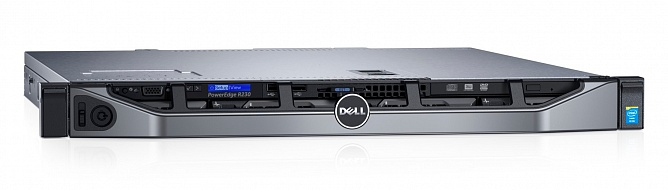 Платформа DELL PowerEdge R230, 1U Rack,  БП: 250
