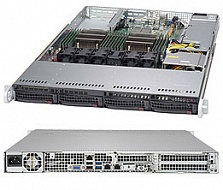 Платформа SuperMicro  SYS-6018R-TDW, 1U Rack,  Socket-2011-v3,  БП: 600