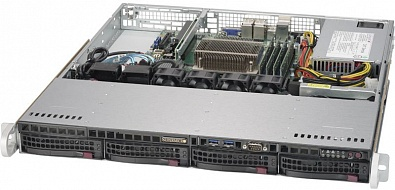 Платформа SuperMicro  SYS-5019S-MR, 1U Rack,  Socket-1151,  БП: 400
