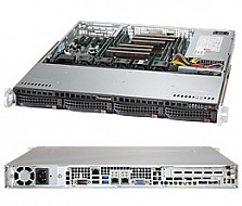 Платформа SuperMicro  SYS-6018R-MT, 1U Rack,  Socket-2011-v3,  БП: 460