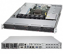 Платформа SuperMicro  SYS-5018R-WR, 1U Rack,  Socket-2011-v3,  БП: 500