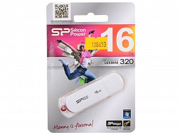 Флеш-накопитель SILICON POWER Luxmini 320 SP016GBUF2320V1W, 16Gb,  USB 2.0