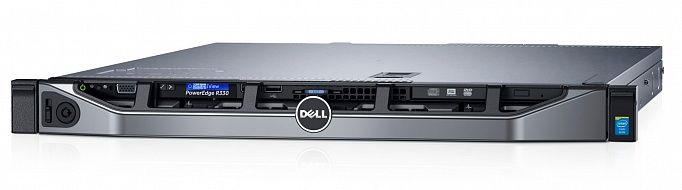 Сервер DELL PowerEdge R330, Intel Xeon E3-1230V6, БП: 350