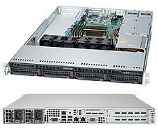 Платформа SuperMicro  SYS-5019S-M, 1U Rack,  Socket-1151,  БП: 350